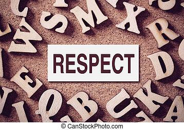 respect, mot, concept