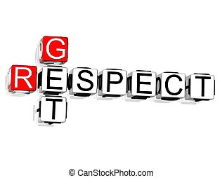 respect, obtenir, mots croisés