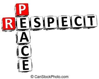 respect, paix, 3d, mots croisés