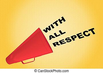 respect, tout, concept