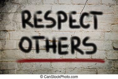 respektál, fogalom, másikak