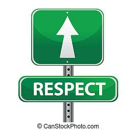 respekt, grün, straße zeichen