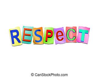 respeto, concept., palabra