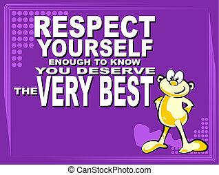 respeto, usted mismo