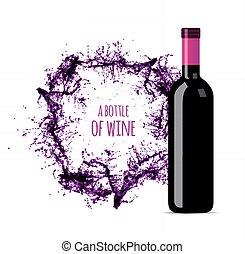 respingo, garrafa vermelha, vinho