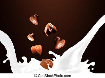 respingo, leite