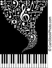 respingo, música, fundo