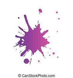 respingo, pintura, isolado, ícone
