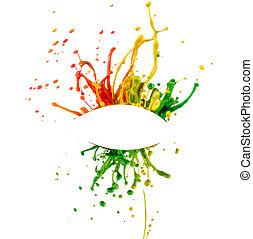 respingo tinta, coloridos