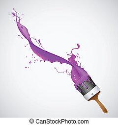 respingo tinta, escova
