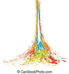 respingo tinta, ilustração