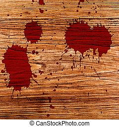 respingo tinta, vermelho