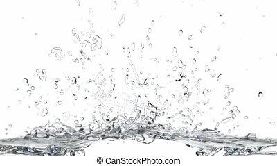 respingue água, animação 3d