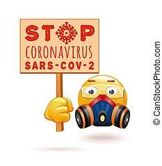 respirateur, lunettes, emoji, protection