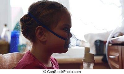 respiratoire, inhalation, tract., maladie, child., procédure