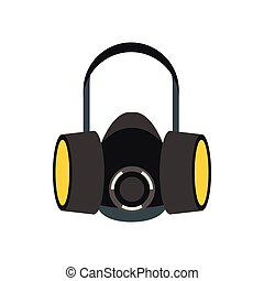Respirator icon in flat style