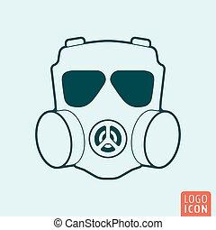 Respirator icon isolated