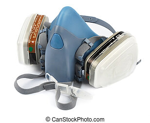 Respirator  isolated white background,filter