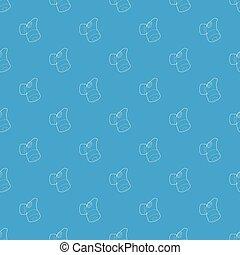 Respirator pattern vector seamless blue