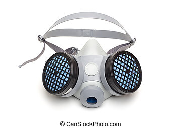 Respirator - Toxic dust respirator on a white background.