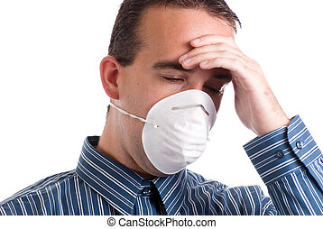 Respiratory Infection - A young man with a respiratory...