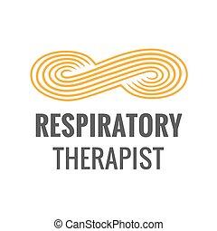 Respiratory Therapist Medical Symbol Icon - RRT, RT or CRT