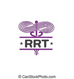 Respiratory Therapy Medical Symbol Icon - for RRT, RT or CRT...