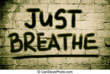 respirer, concept, juste