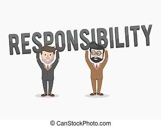 responbility business team illustration
