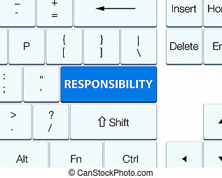 Responsibility blue keyboard button
