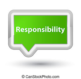 Responsibility prime soft green banner button