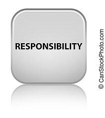 Responsibility special white square button