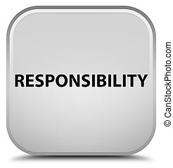 Responsibility special white square button