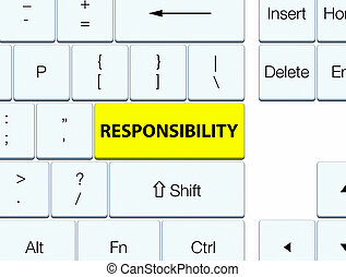 Responsibility yellow keyboard button
