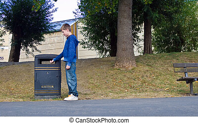 Responsible child - an image of a responsible teenager...