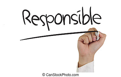Responsible Concept - Business concept image of a hand...