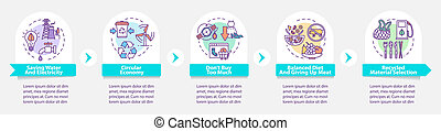 Responsible consumption vector infographic template. ...