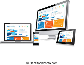 Responsive Design Concept - This image is a vector file...
