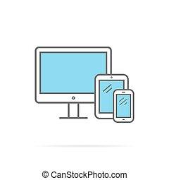 Responsive Design Icon Flat Isolated