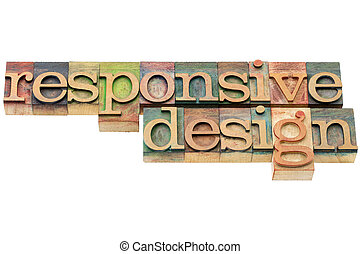 responsive design in wood type