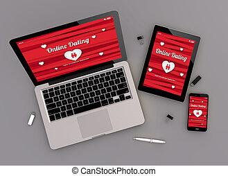 responsive design online dating website zenith view