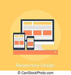 Responsive Design - Vector illustration of responsive web...