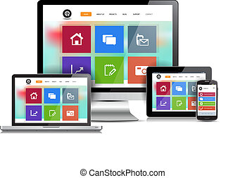 Responsive Design Website - This image is a vector file...