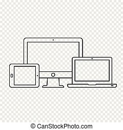 Responsive devices icons