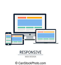 Responsive - Fully responsive web design in electronic...
