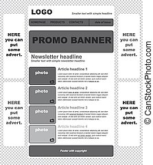 responsive newsletter template for business or non profit organization
