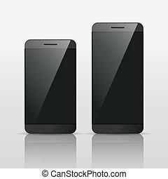 Responsive smart phone mockup vector