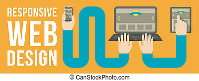 Responsive Web Design Banner - Horizontal conceptual...