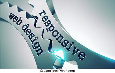 Responsive Web Design Concept on the Cogwheels. - Responsive...