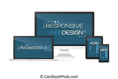 Responsive web design concept - Responsive web design....